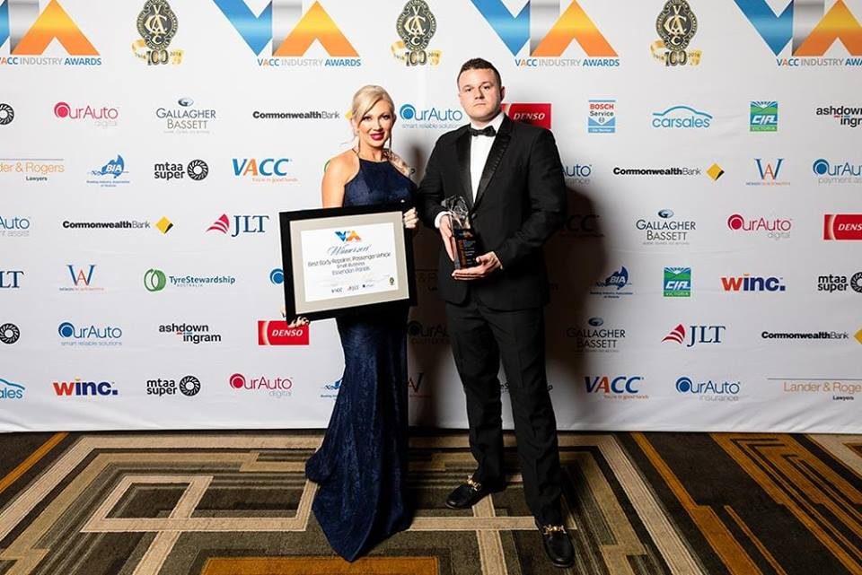 2018 VACC smash repairs award winners ESSENDON PANEL owners Michelle and Nick