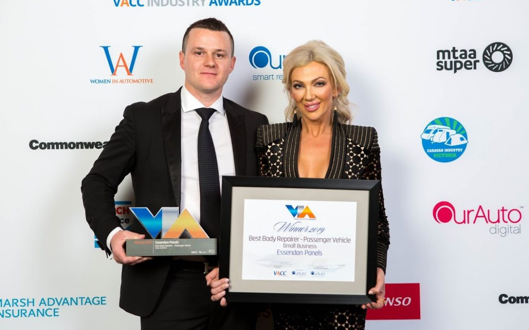 Essendon Panels Best Body Repairer 2019 VACC Award!